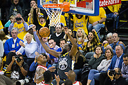 Golden State Warriors forward Draymond Green (23) scrambles for a loose ball against the Houston Rockets during Game 4 of the Western Conference Finals at Oracle Arena in Oakland, Calif., on May 22, 2018. (Stan Olszewski/Special to S.F. Examiner)