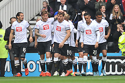 Derby Celebrate Chris Martins First Goal, Derby County v Wolves, Ipro Stadium, Sky Bet Championship, Sunday 18th October 2015 (Score Derby 4, Wolves, 1)Derby County v Wolves, Ipro Stadium, Sky Bet Championship, Sunday 18th October 2015 (Score Derby 4, Wolves, 1)Derbys Chris Martin heads in Derbys First goal celebrates his at Derby, Derby County v Wolves, Sky Bet Championship, Sunday 18th October 2015