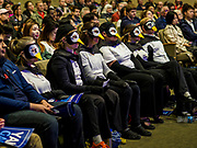 "28 APRIL 2019 - DES MOINES, IOWA: People dressed in penguin outfits during a Town Hall event held by Andrew Yang in Des Moines. The ""penguins"" wanted to ask Yang questions related to climate change. Yang, an entrepreneur, is one of 20 Democrats running for the Democratic nomination for the US Presidency in 2020. Iowa hosts the the first election event of the presidential election cycle. The Iowa Caucuses will be on Feb. 3, 2020.                 PHOTO BY JACK KURTZ"