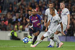 October 24, 2018 - Barcelona, Spain - Barcelona, Spain, October 24, 2018: Arturo Vidal of FC Barcelona in action during the UEFA Champions League, Group B football match between FC Barcelona and FC Internazionale on October 24, 2018 at Camp Nou stadium in Barcelona, Spain (Credit Image: © Manuel Blondeau via ZUMA Wire)