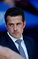 Football - 2018 / 2019 Premier League - Everton vs Manchester United<br /> <br /> at Goodison ParkFootball - 2018 / 2019 Premier League - Everton vs Manchester United<br /> <br /> Everton manager Marco Silva at Goodison Park