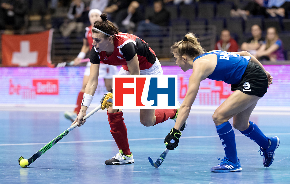 BERLIN - Indoor Hockey World Cup<br /> Women: Poland - USA<br /> foto: WISNIEWSKA Natalia.<br /> WORLDSPORTPICS COPYRIGHT FRANK UIJLENBROEK