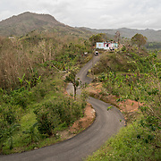 OCTOBER 18 - LAS MARIAS, PUERTO RICO - <br /> A farm house sits atop a small hill in the middle of 89 acres  following the destructive path of hurricane Maria.<br /> (Photo by Angel Valentin for NPR)