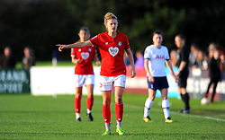 Yana Daniels of Bristol City gestures- Mandatory by-line: Nizaam Jones/JMP - 27/10/2019 - FOOTBALL - Stoke Gifford Stadium - Bristol, England - Bristol City Women v Tottenham Hotspur Women - Barclays FA Women's Super League
