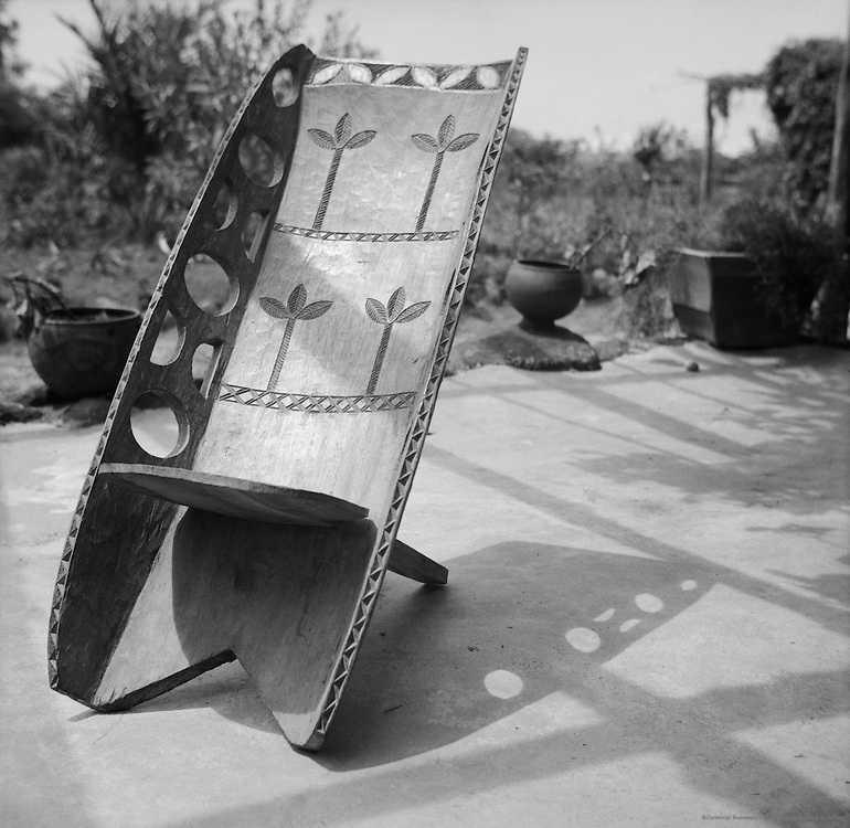 Native Made Chair, Kasengi, Belgian Congo (now Democratic Republic of the Congo), Africa, 1937