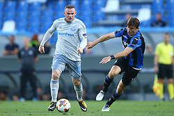 September 14, 2017 - Reggio Emilia, Italy - Wayne Rooney of Everton and Marten De Roon of Atalanta during the UEFA Europa League group E match between Atalanta and Everton FC at Stadio Citta del Tricolore on September 14, 2017 in Reggio nell'Emilia, Italy. (Credit Image: © Matteo Ciambelli/NurPhoto via ZUMA Press)