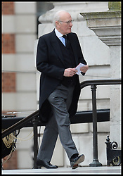 Lib Dem Menzies Campbell attends Lady Thatcher's funeral at St Paul's Cathedral following her death last week, London, UK, Wednesday 17 April, 2013, Photo by: Andrew Parsons / i-Images