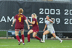 04 November 2016: Sierra Pagan(2)  during an NCAA Missouri Valley Conference (MVC) Championship series women's semi-final soccer game between the Loyola Ramblers and the Evansville Purple Aces on Adelaide Street Field in Normal IL