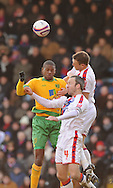 London - Friday, December 26th, 2008: Shaun Derry of Crystal Palace and Carl Cort of Norwich City during the Coca Cola Championship match at Selhurst Park, London. (Pic by Alex Broadway/Focus Images)