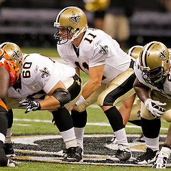 2009 August 14: New Orleans Saints quarterback Mark Brunell (11) under center during 17-7 win by the New Orleans Saints over the Cincinnati Bengals in their preseason opener at the Louisiana Superdome in New Orleans, Louisiana.