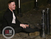 Manchester UK 26.12.2016: Men urinate in public in Manchester gay village on boxing day