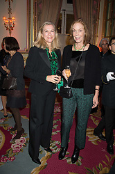 Left to right, MARIE-CHRISTINE DE LAUBAREDE and JOAN MAYER at a reception and talk in honour of the late Loulou de La Falaise hosted by CLIC Sargent held at The Ritz, Piccadilly, London on 2nd November 2015.