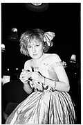 Philippa Stockley, Christchurch and Farley Hill Beagles Ball, Lyceum. 8 March 1984. SUPPLIED FOR ONE-TIME USE ONLY> DO NOT ARCHIVE. ? Copyright Photograph by Dafydd Jones 248 Clapham Rd.  London SW90PZ Tel 020 7820 0771 www.dafjones.com