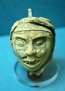 Pottery head ' Mixtec, Mexico AD 1300-1400.