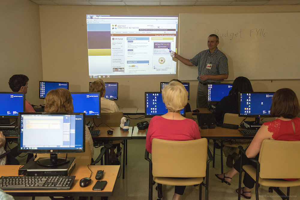 Photos taken in the training room Wednesday, May 20, 2015 at Baptist Health in Richmond, Ky. (Photo by Brian Bohannon/Videobred for Baptist Health)