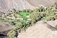 Cultivated fields in the High Atlas Mountains.