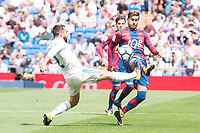 Real Madrid's Daniel Carvajal and Levante's Mitchell Langerak during La Liga match between Real Madrid and Levante UD at Santiago Bernabeu Stadium in Madrid, Spain September 09, 2017. (ALTERPHOTOS/Borja B.Hojas)