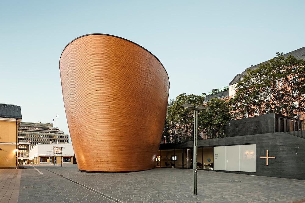 Kamppi chapel of silence in Helsinki, Finland designed by K2S architects