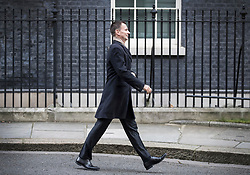 © Licensed to London News Pictures. 30/01/2018. London, UK.  Health Secretary Jeremy Hunt leaves Number 10 Downing Street after attending a cabinet meeting. Photo credit: Peter Macdiarmid/LNP