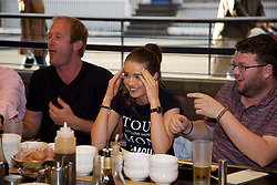 LIVERPOOL, ENGLAND - Thursday, June 15, 2017: Abigail at Sapporo Teppanyaki  on Day One of the Liverpool Hope University International Tennis Tournament 2017 at the Liverpool Cricket Club. (Pic by David Rawcliffe/Propaganda)
