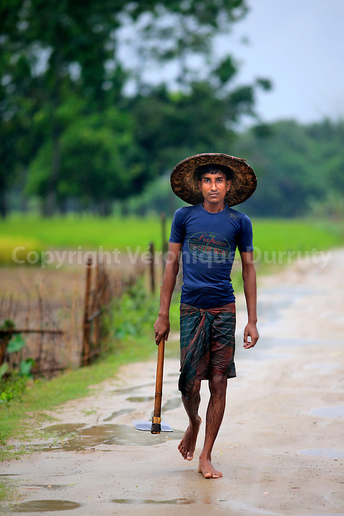Monsoon day in the coutnryside in Dinajpur neibourhood, Bangladesh // Jour de mousson dans la campagne pres de Dinajpur, Bangladesh