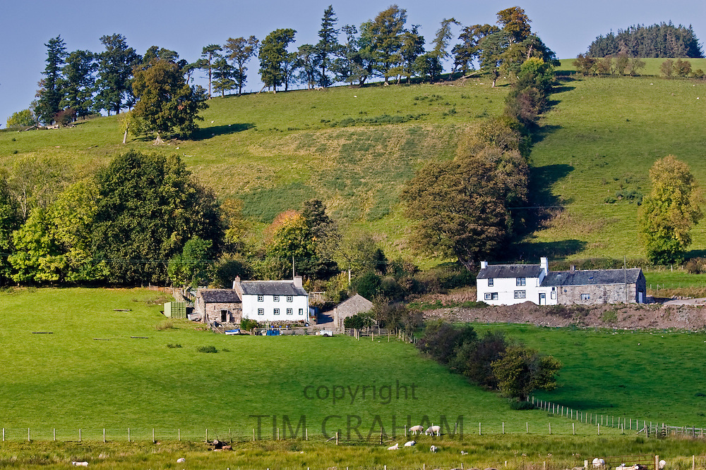 Farm houses in the Lake District, England, United Kingdom