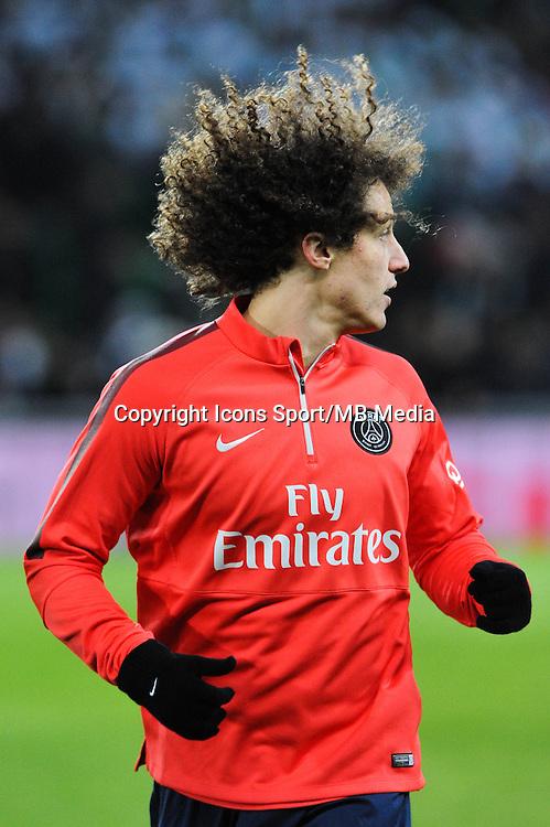 David LUIZ - 25.01.2015 - Saint Etienne / PSG - 22eme journee de Ligue1<br /> Photo : Jean Paul Thomas / Icon Sport