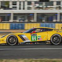 #64, Corvette Racing-GM, Chevrolet Corvette C7.R, driven by: Oliver Gavin, Tommy Milner, Marcel Fassler, on 14/06/2017 at the 24H of Le Mans, 2017