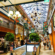 Brisbane Arcade, and old, ornate shopping mall in Brisbane City.