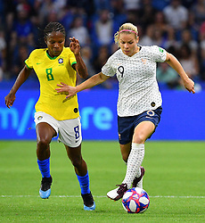 France's Eugenie Le Sommer during FIFA Women's World Cup France group A match France v Brazil on June 23, 2019 in Le Havre, France. France won 2-1 after extra time reaching quarter-finals. Photo by Christian Liewig/ABACAPRESS.COM