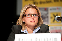 08 JAN 2011, BERLIN/GERMANY:<br /> Katrin Dornheim, Betriebsratsvorsitzende DB Station & Service AG, Podiumsdiskussion, 16. Internationale Rosa-Luxenburg-Konferenz, Urania Haus<br /> IMAGE: 20110108-01-055
