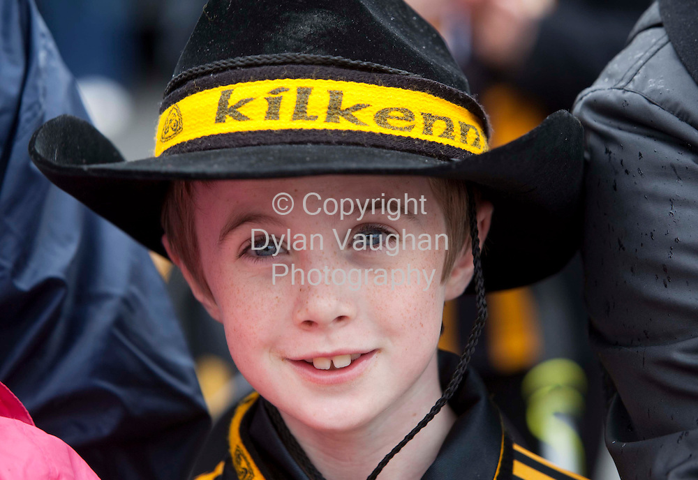 6/9/2009.Jamie Barron aged 9 from Carrickshock pictured at the Kilkenny All Ireland homecoming..Picture Dylan Vaughan.