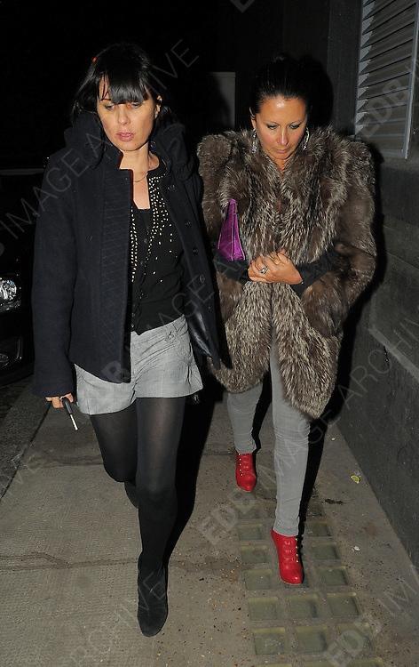 20.JANUARY.2010      LONDON<br /> <br /> SADIE FROST AND FRAN CUTLER JOINS SUPER MODEL KATE MOSS TO CELEBRATE HER BELATED 36TH BIRTHDAY WITH FRIENDS, FAMILY AND HER NEW FIANCE JAMIE HINCE AT SHORDITCH HOUSE MEMBERS CLUB IN LONDON. JAMIE WHO REPORTEDLY PROPOSED TO KATE WHILST AWAY ON HOLIDAY LAST WEEK ARRIVED HALF AN HOUR AFTER HIS WIFE TO BE. BUT KATE WAS STILL NOT WEARING AN ENGAGEMENT RING. <br /> <br /> BYLINE MUST READ : EDBIMAGEARCHIVE.COM<br /> <br /> *THIS IMAGE IS STRICTLY FOR UK NEWSPAPERS & MAGAZINES ONLY*<br /> *FOR OTHER REGIONS AND WEB USE PLEASE CONTACT EDBIMAGEARCHIVE - 0208 954 5968*