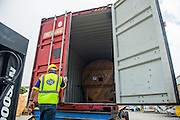 GAC Employee opening a container in the Cape Town Port