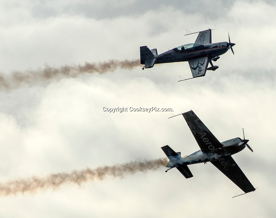 Picture by Christian Cooksey/CookseyPix.com on behalf of South Ayrshire Council.<br /> <br /> The Scottish Airshow, Low Green, Ayr, South Ayrshire.<br /> <br /> The Blades Aerobatic Display team<br /> <br /> <br /> All rights reserved. For full terms and conditions see www.cookseypix.com