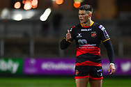 Dragons' Jared Rosser<br /> <br /> Photographer Craig Thomas/Replay Images<br /> <br /> EPCR Champions Cup Round 4 - Newport Gwent Dragons v Newcastle Falcons - Friday 15th December 2017 - Rodney Parade - Newport<br /> <br /> World Copyright © 2017 Replay Images. All rights reserved. info@replayimages.co.uk - www.replayimages.co.uk