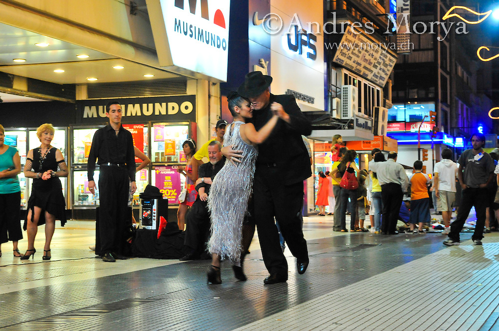Tango Dancers in the streets , Calle Florida , Buenos Aires , Argentina Image by Andres Morya