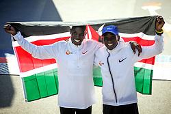 Geoffrey Kamworor and Eliud Kipchoge<br /> TCS New York City Marathon 2019