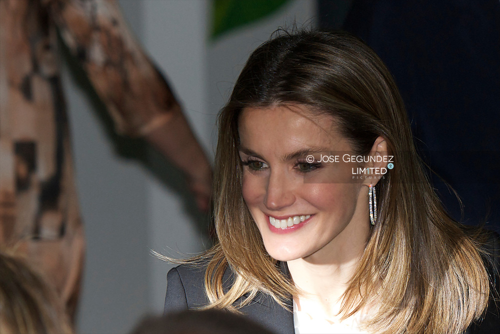 Princess Letizia attends the Annual Dinner of the Stela Businessmen Club organized by the Madrid Business Confederation, CEOE, and Down Syndrome Foundation of Madrid at 3 Olives center in Madrid