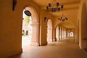 Walkway at El Prado in Balboa Park, San Diego, California