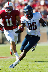 PALO ALTO, CA - OCTOBER 06: Running back Ka'Deem Carey #25 of the Arizona Wildcats rushes up field against the Stanford Cardinal during the fourth quarter at Stanford Stadium on October 6, 2012 in Palo Alto, California. The Stanford Cardinal defeated the Arizona Wildcats 54-48 in overtime. (Photo by Jason O. Watson/Getty Images) *** Local Caption *** Ka'Deem Carey