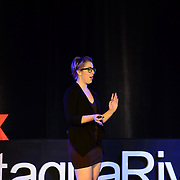 Kaitlin Maud speaks at TEDx PiscataquaRiver at 3S Artspace in Portsmouth, NH on May 3, 2013