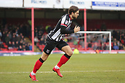 Grimsby Town forward Harry Cardwell (17) comes on as a substitute  during the EFL Sky Bet League 2 match between Grimsby Town FC and Port Vale at Blundell Park, Grimsby, United Kingdom on 10 March 2018. Picture by Mick Atkins.