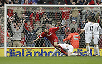 Photo. Aidan Ellis.Digitalsport<br /> Middlesbrough v Bolton Wanderers.<br /> FA Barclaycard Premiership.<br /> 03/04/2004.<br /> Boro's Johnathon Greening turns to celebrate his goal
