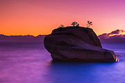 Bonsai Rock at sunset, Lake Tahoe, Nevada, USA