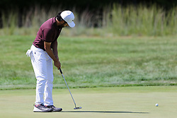 September 2, 2018 - Norton, Massachusetts, United States - Abraham Ancer putts the 3rd green during the third round of the Dell Technologies Championship. (Credit Image: © Debby Wong/ZUMA Wire)
