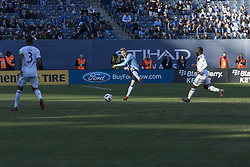 March 11, 2018 - New York, New York, United States - Anton Tinnerholm (3) of NYC FC kicks ball during regular MLS game against LA Galaxy at Yankee stadium NYC FC won 2 - 1  (Credit Image: © Lev Radin/Pacific Press via ZUMA Wire)