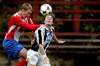 Fotball<br /> 2. divisjon<br /> 16.09.08<br /> Voldsløkka Stadion<br /> Lyn 2 - Skarbøvik<br /> Mads Dahm - Richard Tomren<br /> Foto - Kasper Wikestad