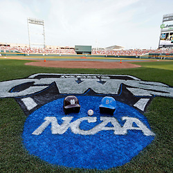 Jun 24, 2013; Omaha, NE, USA; General view of TD Ameritrade Park before game 1 of the College World Series finals between the UCLA Bruins and the Mississippi State Bulldogs. Mandatory Credit: Derick E. Hingle-USA TODAY Sports