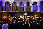 Amicus presents an evening court charging the United States death penalty with perverting the course of Justice. The Emmanuel Centre, Westminster, London.